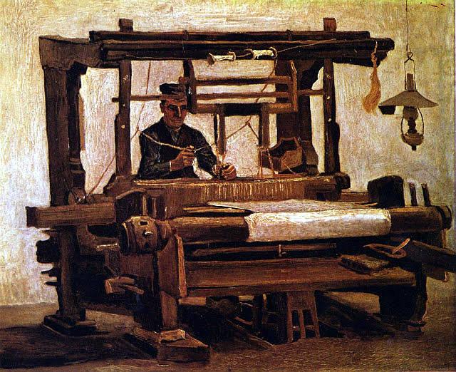 Telar de tejer. Vincent van Gogh (1884).